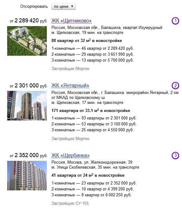 Цены на нежвижимость в Москве