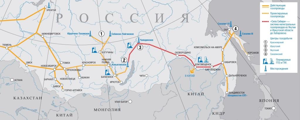 Сила Сибири маршрут