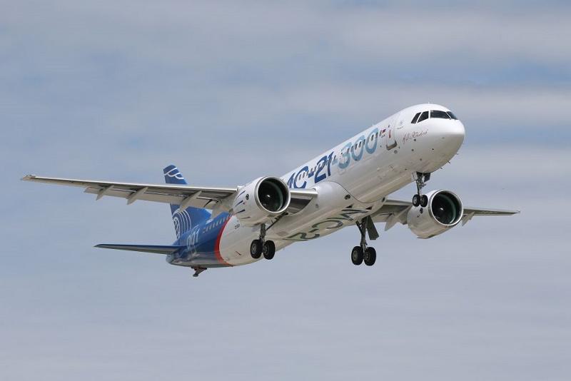 Новый российский самолёт МС-21