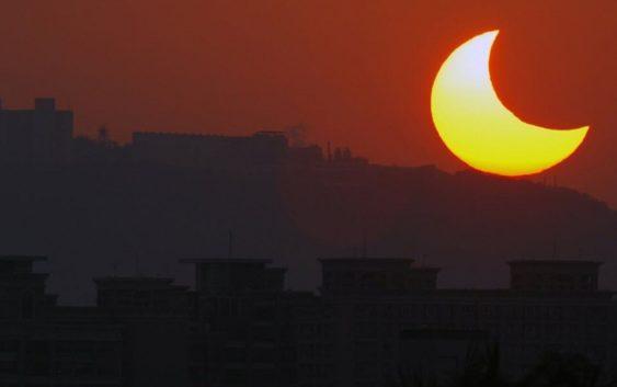 Солнечное затмение было в пятницу
