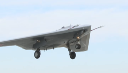 Российский беспилотник «Охотник» совершил совместный полёт